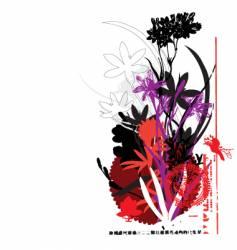 oriental flower vector image