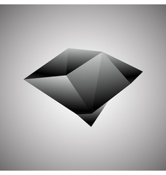 Abstract Creative concept icon of black diamond vector image
