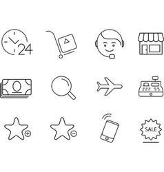 Shopping icons set simple design vector
