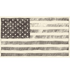 United states america usa flag hand drawn vector