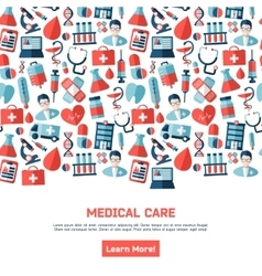 Medical healthcare brochure vector
