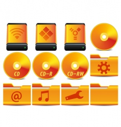 gold icon set 1 of vector image