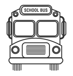 Isolated school bus graphic vector