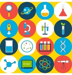 Yellow tile science background circles vector
