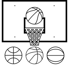 basketball symbols vector image