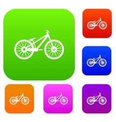 bike set collection vector image
