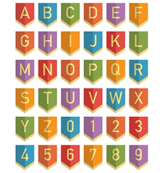 bunting alphabet vector image vector image