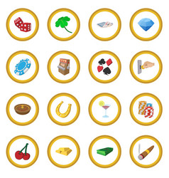Casino cartoon icon circle vector
