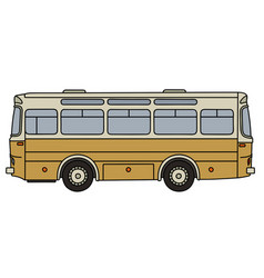 classic yellow bus vector image vector image