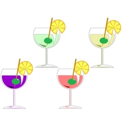 cocktails vector image vector image