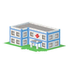 cute colorful flat style hospital house village vector image