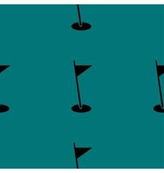 Golf flag web icon flat design seamless pattern vector