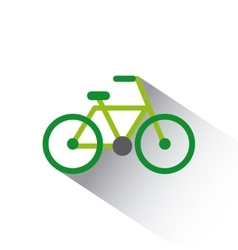 Green bicycle icon vector