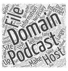How to make a podcast word cloud concept vector
