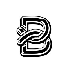 Letter b celtic font norse medieval ornament abc vector