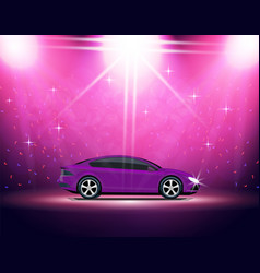 Lighting stage podium auto show automobile vector