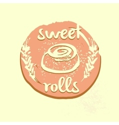 Logo template for confectionery bakery sweet vector