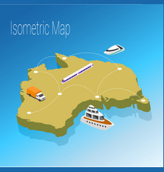 map australia isometric concept vector image vector image