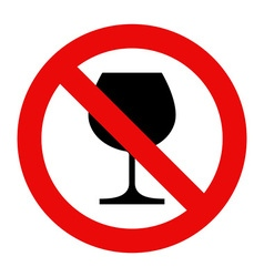 No alcohol sign warning sign vector