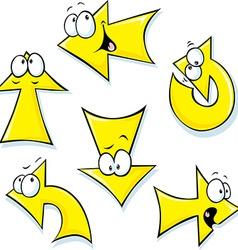 set of cartoon arrows vector image vector image