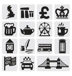set of uk vector image vector image