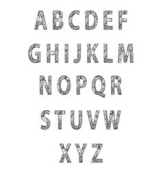 Sketch textured font vector image vector image