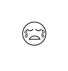Too sad crying emotion icon vector