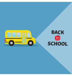 Yellow bus transportation side view back to school vector