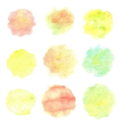 Watercolor circles isolated on white background vector