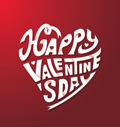 Happy valentines day hand drawing paper craft vector