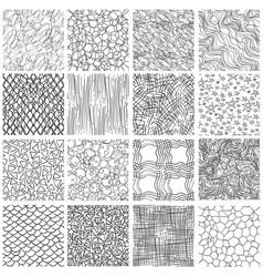 Sketch linear seamless patterns set vector