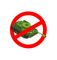 Stop war prohibited military action red vector