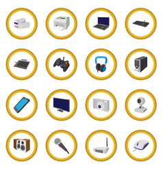Technology and devices cartoon icon circle vector