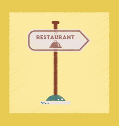Flat shading style icon restaurant sign vector