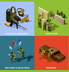 paintball team design concept vector image