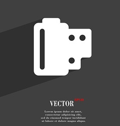 35 mm negative films icon symbol Flat modern web vector image