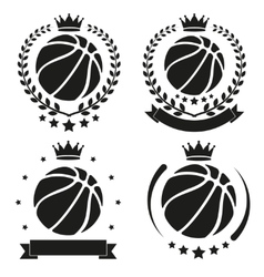 Set of vintage basketball club badge and label vector