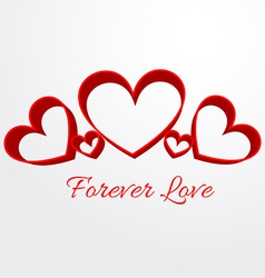 Forever love background vector