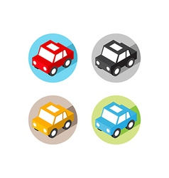 Isometric car icon flat design vector