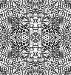 Monochrome hand drawn seamless outline pattern vector