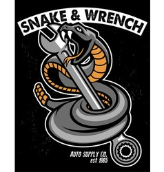 Snake with hold the wrench vector