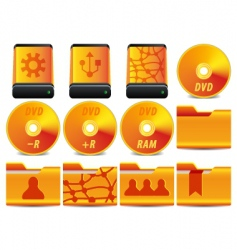 DVD icons vector image