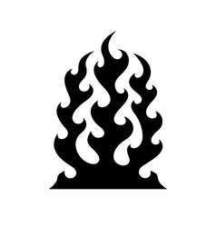 Tribal fire flame vector image