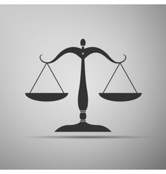 Justice scales silhouette icon vector