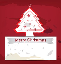 christmas background ink paint style vector image