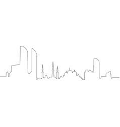 abu dhabi cityscape vector image