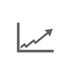 Benefits chart icon on white background vector