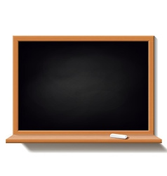 Black school board isolated on white background vector image vector image