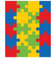 colorful puzzle 20 vector image