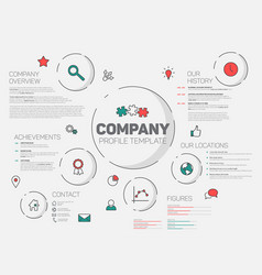 company infographic profile design template vector image